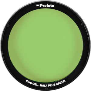 Filtr Profoto Clic Gel Half Plus Green do Lampy C1 Plus, A1