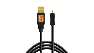 Kabel do tetheringu TetherPro USB 2.0 na Mini-B 8-Pin 4.6m Czarny